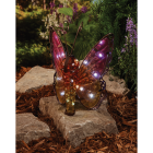 Outdoor Expressions 8 In. W. x 11.25 In. H. x 7 In. D. Butterfly Solar Light Image 2