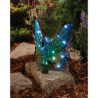 Outdoor Expressions 8 In. W. x 11.25 In. H. x 7 In. D. Butterfly Solar Light Image 3