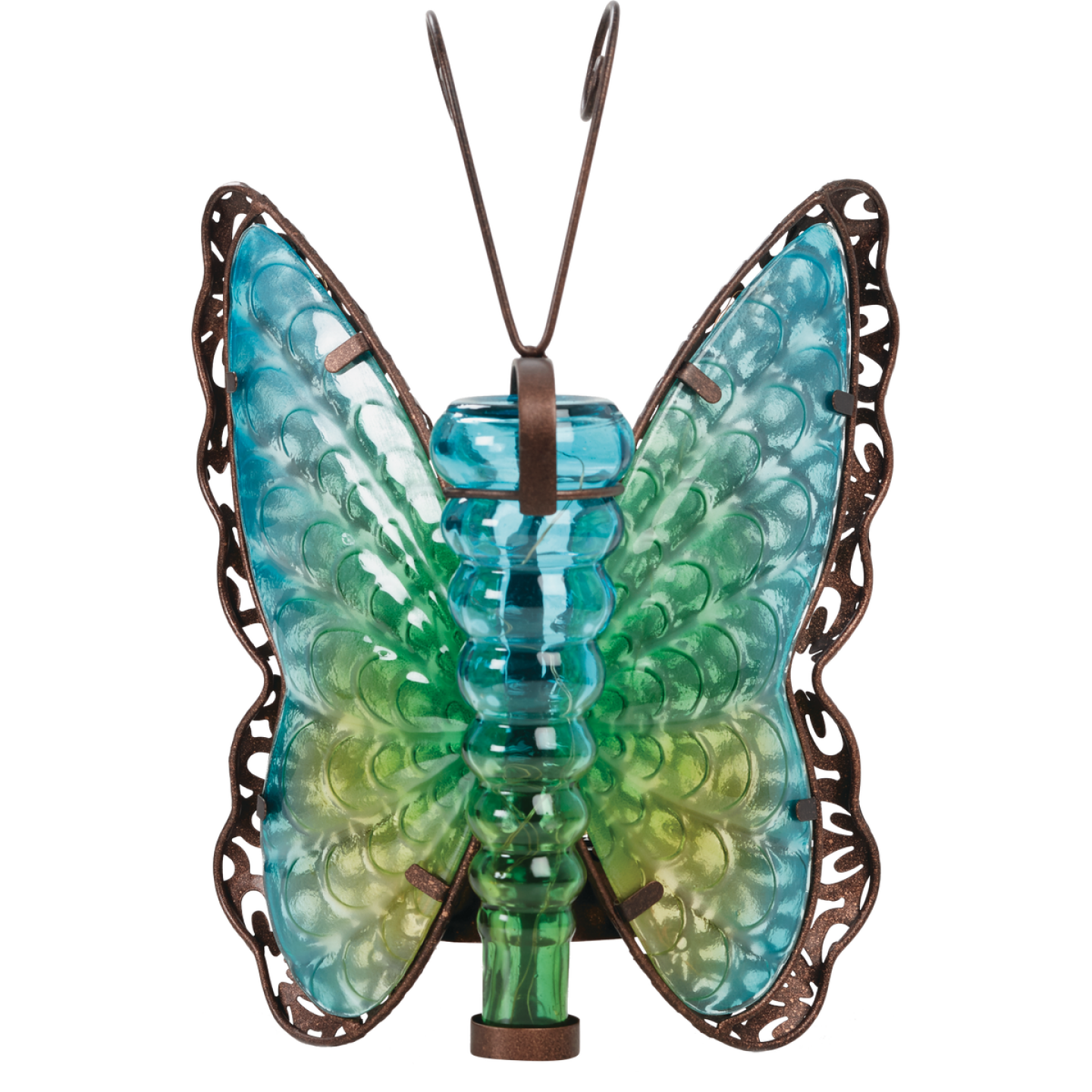 Outdoor Expressions 8 In. W. x 11.25 In. H. x 7 In. D. Butterfly Solar Light Image 8