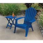 Adams Quik-Fold Patriotic Blue 15 In. x 17.5 In. Rectangle Resin Folding Side Table Image 3