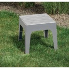 Adams Big Easy Gray 18.9 In. Square Resin Stackable Side Table Image 2