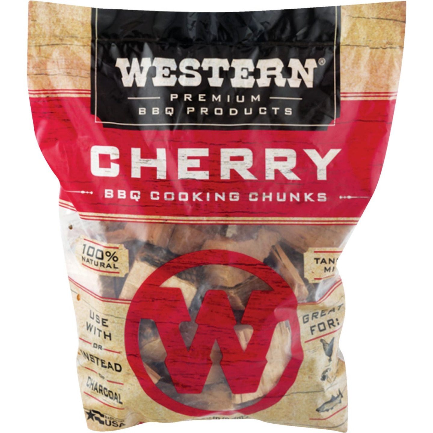 Western 6 Lb. Cherry Wood Smoking Chunks Image 1