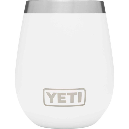 Yeti Rambler 10 Oz. White Stainless Steel Insulated Wine Tumbler