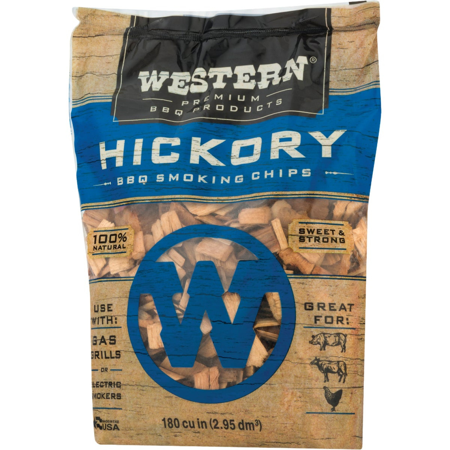 Western 2 Lb. Hickory Wood Smoking Chips Image 5
