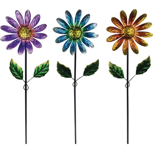 Alpine 32 In. Metal Daisy Garden Stake Lawn Ornament