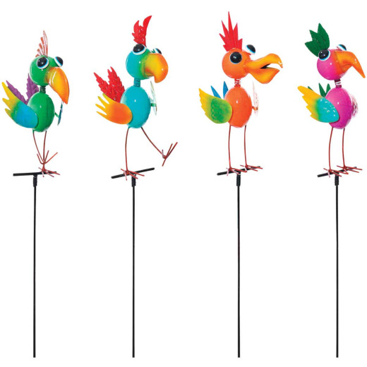Alpine 35 In. Metal Bird Garden Stake Lawn Ornament
